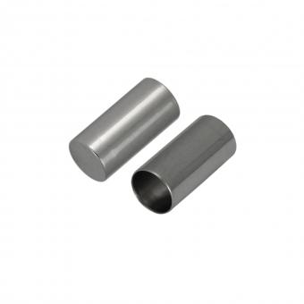 Schmuckkappe, Loch-Ø 1,5mm, Metall, 6mm, silber...