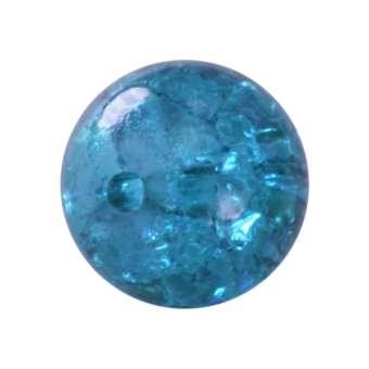 Kristallperle aus Glas, 10mm, safirtürkis safirtürkis