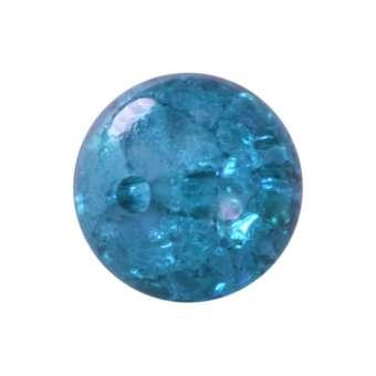 Kristallperle aus Glas, 8mm, safirtürkis safirtürkis