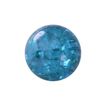 Kristallperle aus Glas, 6mm, safirtürkis safirtürkis