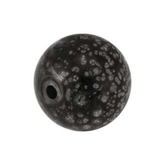 Glasperle mit Schneeflocken-Design, 10 mm, schwarz schwarz