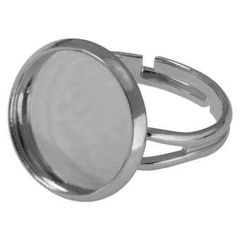 Ring für Ø 16 mm große Cabochons, silberfarben silber