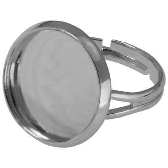 Ring für Ø 18 mm große Cabochons, silberfarben silber