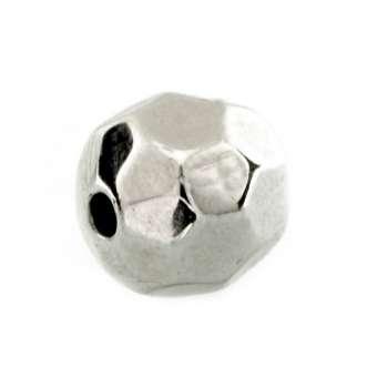 Perle, 9X10mm, rund, silberfarben