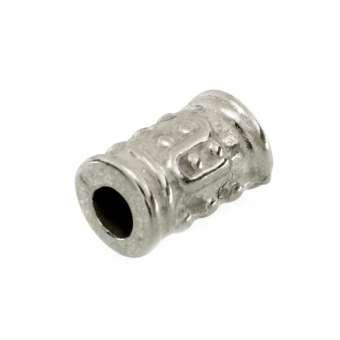 Perle, 9X5mm, Zylinder, silberfarben