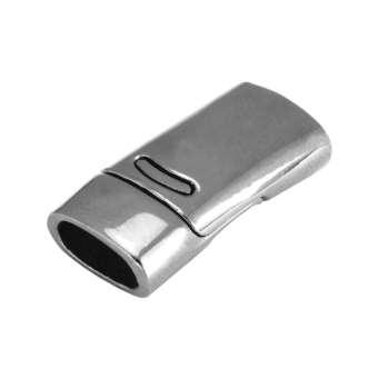 Magnetverschluss, 26X13mm, Loch-Ø 10X5mm (oval), silberfarben silberfarben