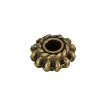 Metallspacer, 8mm, bronzefarben
