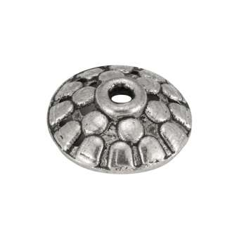Perlenkappe, 11mm, silberfarben