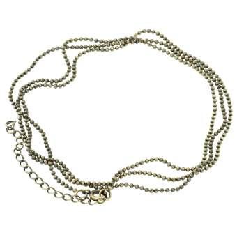 Halskette (ballchain) mit Ringverschluss, 75cm, bronzefarben bronzefarben