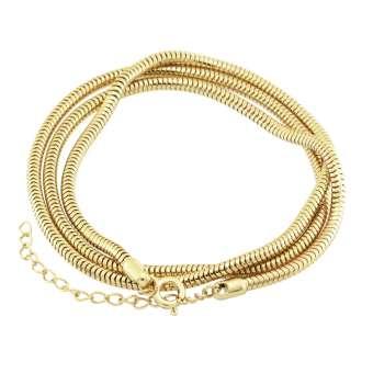 Halskette (snakechain) mit Ringverschluss, 60cm, hellgoldfarben hellgoldfarben