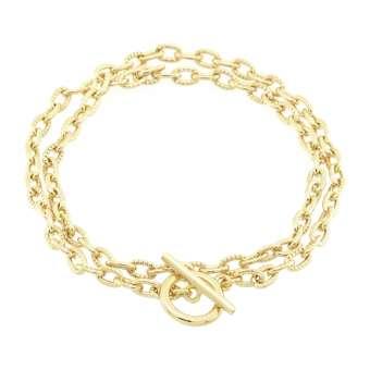 Halskette mit Knebelverschluss, 45cm, hellgoldfarben hellgoldfarben