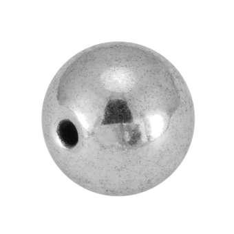 Metallperle, 10X10mm, silberfarben