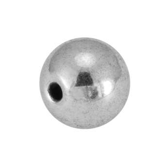 Metallperle, 8X8mm, silberfarben
