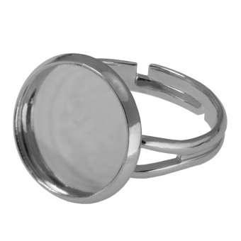 Ring für Ø 14 mm große Cabochons, silberfarben silber
