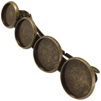 Haarspange für Ø 10, 12, 14, 16 mm große Cabochons, bronzefarben bronze