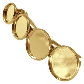 Haarspange für Ø 10, 12, 14, 16 mm große Cabochons, goldfarben gold