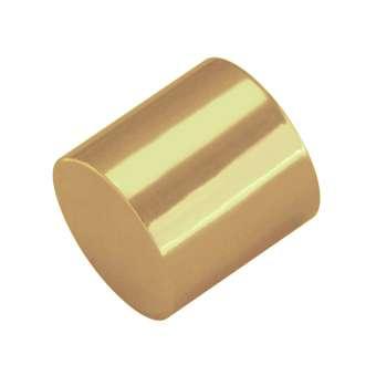 Endkappe, Loch-Ø 10mm, 10,5X12mm, gold Loch-Ø 10mm