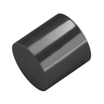 Endkappe, Loch-Ø 10mm, 10,5X12mm, schwarz-silberfarben Loch-Ø 10mm
