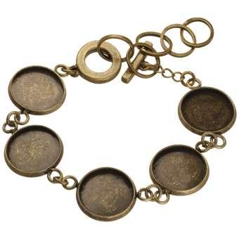 Armband für Ø fünf 14 mm große Cabochons, bronzefarben bronze