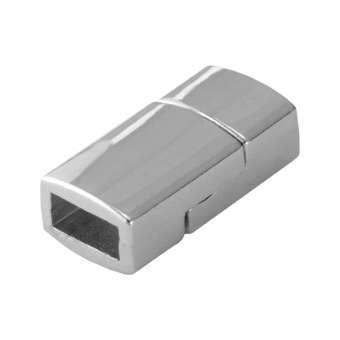 Magnetverschluss, 17mm, Loch-Ø 6X2,8mm, silberfarben