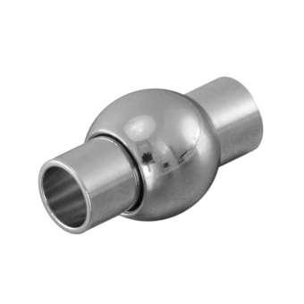 Magnetverschluss, 16X8mm, Loch-Ø 4mm, Metall, silberfarben