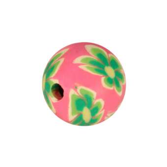Fimoperle, 8mm, rund, rosa