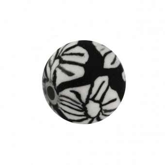 Fimoperle, 8mm, rund, schwarz