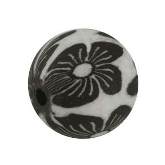 Fimoperle,10mm, rund, weiß