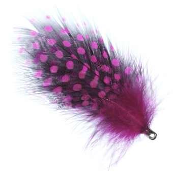Anhänger aus echten Federn, 75X50mm, pink pink