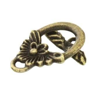 Knebelverschluss, 16X12mm, bronzefarben bronzefarben