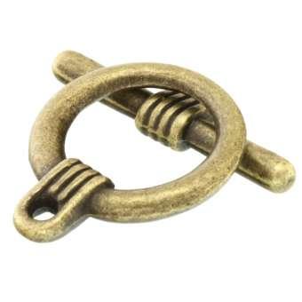 Knebelverschluss, 22X16mm, bronzefarben bronzefarben