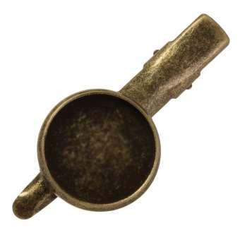 Haarclip für Ø 16 mm große Cabochons, bronzefarben bronze