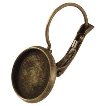 Ohrhaken für Ø 12 mm große Cabochons, bronzefarben bronze