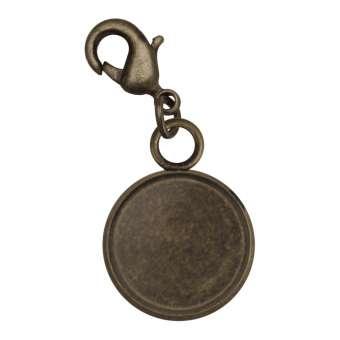 Charms für Ø 12 mm große Cabochons, bronzefarben bronze