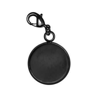 Charms für Ø 10 mm große Cabochons, schwarz silberfarben schwarz silber