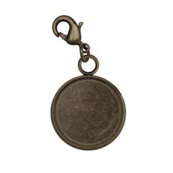 Charms für Ø 10 mm große Cabochons, bronzefarben bronze