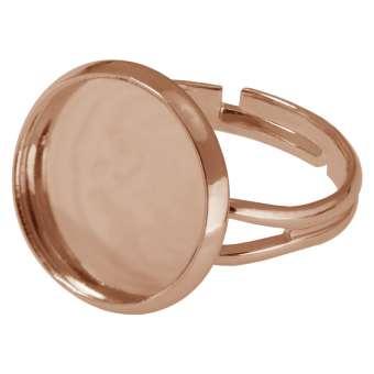 Ring für Ø 16 mm große Cabochons, roségoldfarben roségold