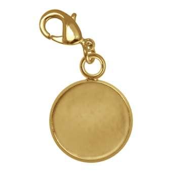 Charms für Ø 12 mm große Cabochons, goldfarben gold