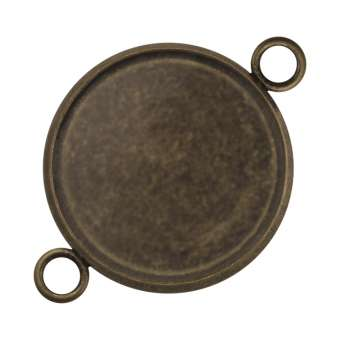 Anhänger Halter für Ø 16 mm große Cabochons, bronzefarben bronze