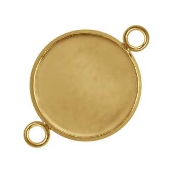 Anhänger Halter für Ø 14 mm große Cabochons, goldfarben gold