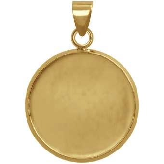Anhänger Halter für Ø 18 mm große Cabochons, goldfarben gold