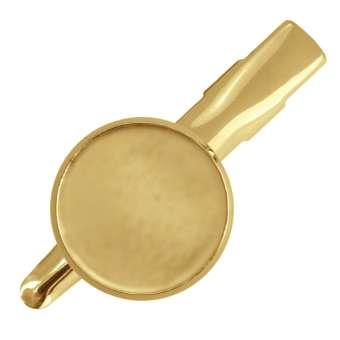 Haarclip für Ø 16 mm große Cabochons, goldfarben gold