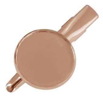 Haarclip für Ø 18 mm große Cabochons, roségoldfarben roségold