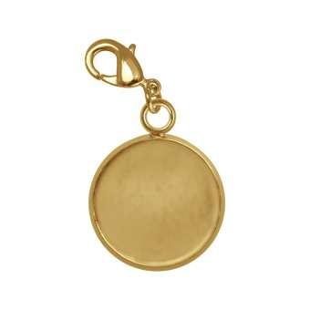 Charms für Ø 10 mm große Cabochons, goldfarben gold