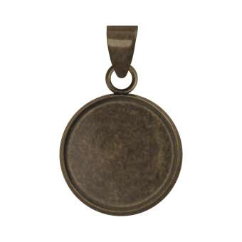 Anhänger Halter für Ø 12 mm große Cabochons, bronzefarben bronze