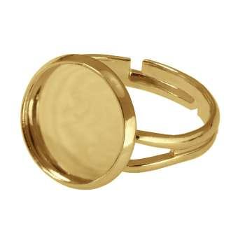 Ring für Ø 12 mm große Cabochons, goldfarben gold