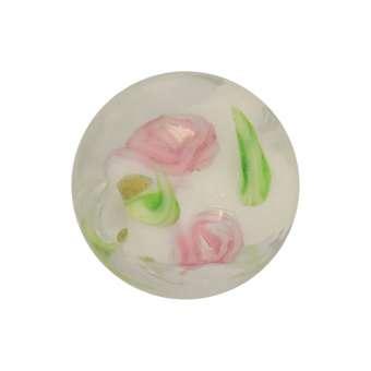 Glasperle (Leuchtperle), 11mm, weiß weiß