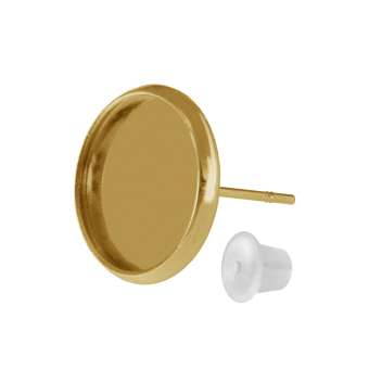 Ohrstecker für Ø 12 mm große Cabochons, goldfarben gold