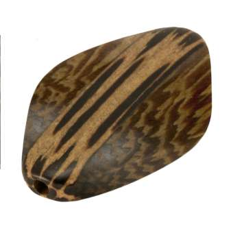 Palmwood & Madre de Cacao, 30X6mm, Raute, versch. Brauntöne 36X6mm Palm- / Madre de Cacao