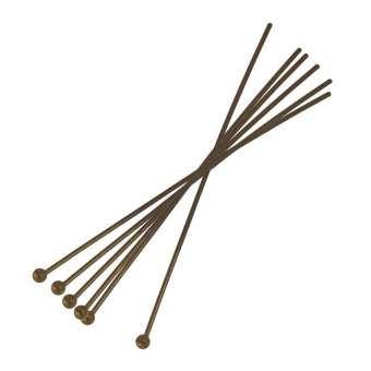 Stift zum Fädeln (100 Stück), 50X1mm, bronzefarben bronzefarben